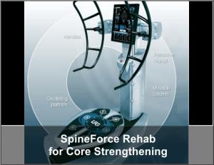 SpineForce rehab for core strengthening